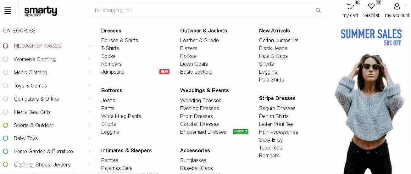 categorias y subcategorias tienda online kubysoft