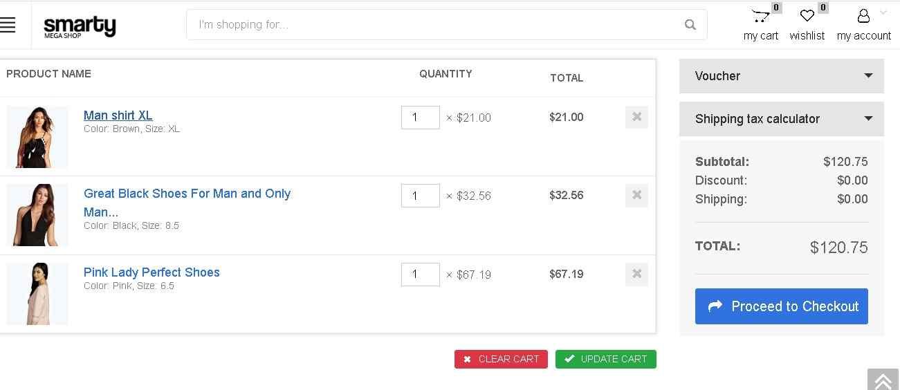 cesta de la compra tienda online kubysoft